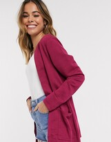 JDY Saga ribbed open cardigan