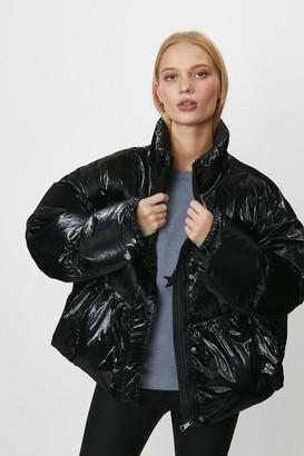 Coast Short Metallic Puffer Coat