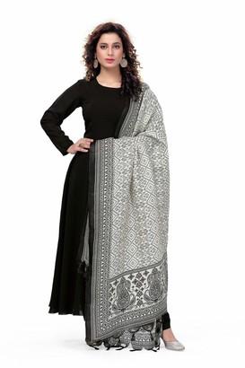 Bedi's Asian Clothing Women Office Suits for Women Indian Black Georgette Anarkali Suit with Silk Dupatta Perfect Asian Partywear Suit-XL