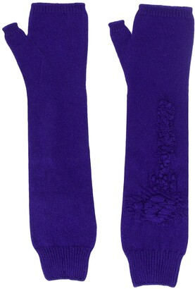 Barrie Thistle Patterned Gloves