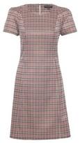Dorothy Perkins Womens Burgundy Tweed Check Print Shift Dress
