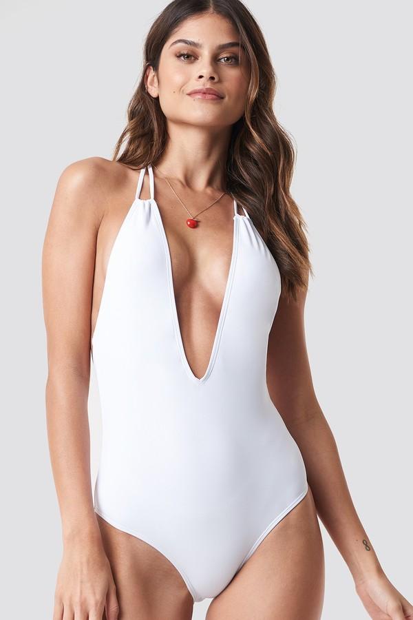 2c30fa26fb5 White Plunge Swimsuit - ShopStyle UK