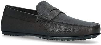 J.P Tods Grained Leather Penny Loafers