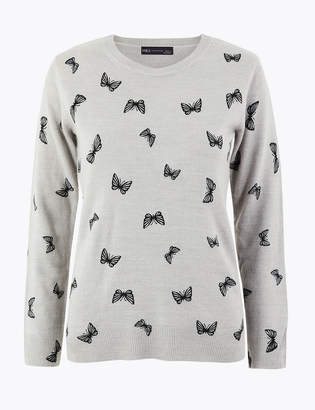 M&S CollectionMarks and Spencer Butterfly Print Jumper