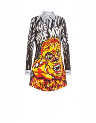 Moschino Wolfman X Universal Dress Woman Black Size 36 It - (2 Us)