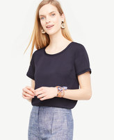 Ann Taylor Petite Piped Tee
