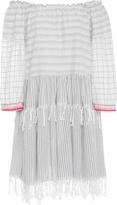 Lemlem Anan Off-The-Shoulder Cotton-Blend Gauze Dress