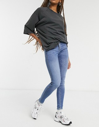 Dr. Denim Lexy mid rise second skin super skinny jeans in blue