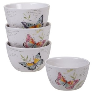 Certified International Spring Meadows 4-Pc. Cereal Bowls