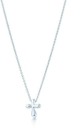Tiffany & Co. Elsa Peretti cross pendant in sterling silver, 12 mm long