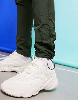 Asos DESIGN sneakers in off white with chunky sole