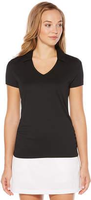 PGA Tour TOUR Womens V Neck Short Sleeve Polo Shirt