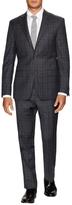 Ike Behar Wool Plaid Notch Lapel Suit