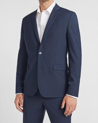 Express Slim Navy Washable Wool-Blend Suit Jacket