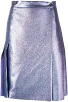 Marco De Vincenzo back pleat metallic skirt - women - Polyester/Polyamide/Acetate/Viscose - 40