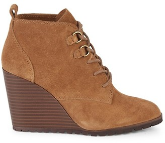 Splendid Paris Suede Wedge Ankle Boots