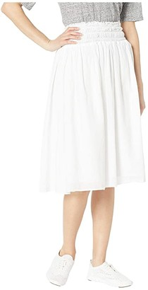 Hard Tail Smocked Waist Ballet Skirt (White) Women's Skirt