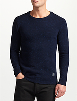 Scotch & Soda Neps Crew Neck Jumper, Navy Melange