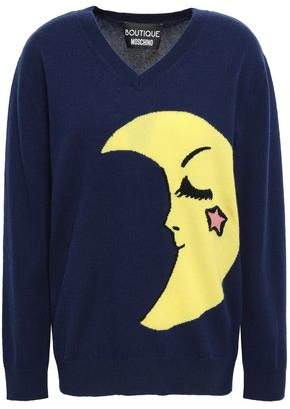 Moschino Intarsia Wool And Cashmere-blend Sweater