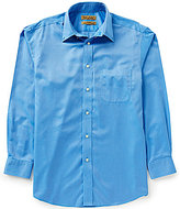 Roundtree & Yorke Gold Label Non-Iron Long-Sleeve Solid Dobby Sportshirt