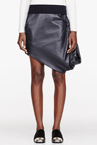 J.W.Anderson Black Leather Balloon Skirt