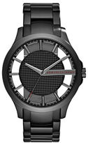 Armani Exchange Hampton Stainless Steel Tri-Link Bracelet Watch
