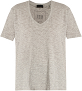 ATM Deep V-neck cotton-blend T-shirt