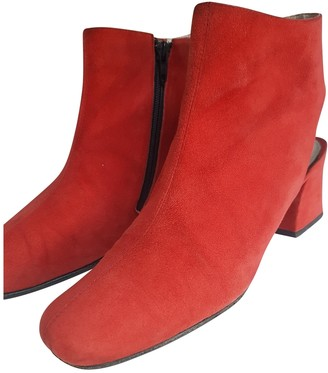 Church's Red Suede Ankle boots