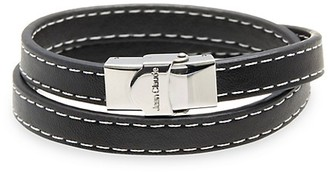 Jean Claude Stainless Steel Leather Bracelet