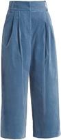 Tibi Bianca wide-leg cropped trouser