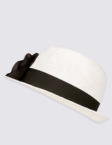 M&S Collection Corsage Trilby Hat