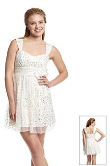 Amy Byer A Byer A. Byer Gold Foil Party Dress