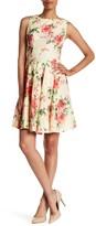 Sandra Darren Sleeveless Lace Floral Dress