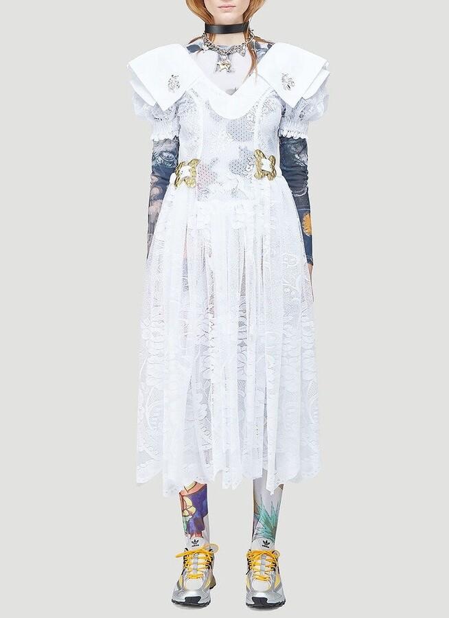 Thumbnail for your product : Chopova Lowena Embellished Waist Midi Dress