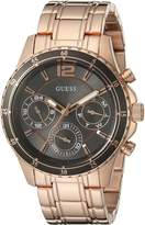 GUESS GUESS? Women's U0639L2 Modern Classic Rose -Tone Watch with Grey Multi-Function Dial