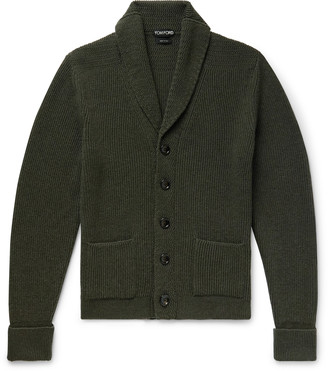 Tom Ford Slim-Fit Shawl-Collar Cashmere Cardigan - Men - Green