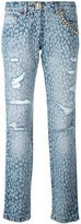 Philipp Plein animal print jeans - women - Cotton/Polyester - 26