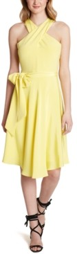 Tahari ASL Crisscross Halter Dress