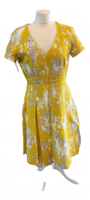 Jonathan Saunders Yellow Silk Dresses