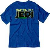 BSW YOUTH Trust Me I'm A Jedi Star Wars Knight Theme Shirt XS Yellow