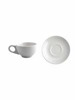 Diner Ceramic Tea Cup & Saucer Set