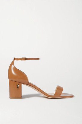 Jennifer Chamandi Massimo 65 Embellished Leather Sandals - Tan
