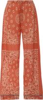 The Elder Statesman Paisley Print Cashmere Pajama Pants