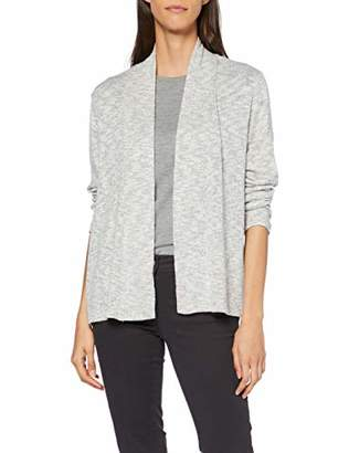 Tom Tailor Women's 1012887 Cardigan, (Silver Grey Melange 11282), Large