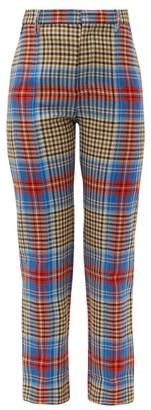 Charles Jeffrey Loverboy Tartan Wool Trousers - Beige Multi