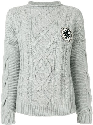 Mr & Mrs Italy Cable-Knit Jumper