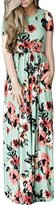 Greenis Summer Women Dress Maxi Floral Printed Cotton Long Sleeves Black Size 2X-Large