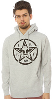 Obey The Star Stencil Pullover Hoody in Heather Grey