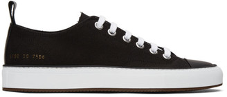 Common Projects Black Canvas Tournament Low Sneakers
