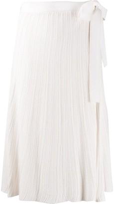 Victoria Victoria Beckham Pleated Knit Skirt